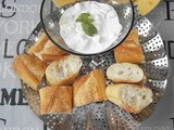Tzatziki with fresh goat's cheese