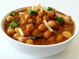 Punjabi Chana or Chole Bhature – Garbanzo Beans Curry