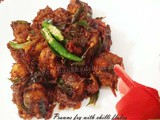 Prawns Dry Fry With Red Chilli Flakes