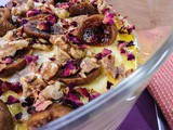 Fig Coffee Walnut Rose Trifle