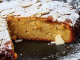 Quick moist all-in-one almond cake