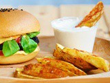 Black Bean Burgers with Potato Wedges