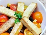 Grilled Smoked Tofu Tomato Salad