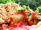 Pickled Cabbage Rolls with Tomato Sauce