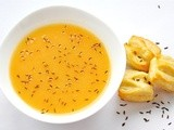 Potato and Carrot Caraway Flavored Creamy Soup