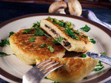 Potato Cutlets with Mushroom Stuffing