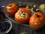Rice Stuffed Tomatoes – Greek-flavored
