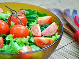Salata de spanac cu rosii coapte | Crunchy Spinach Salad with Roasted Cherry Tomatoes