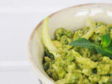 Warm Green Pea Salad with Avocado Mayo and Mint