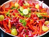 Beet cabbage carrot salad