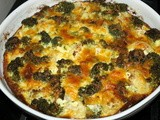 Crustless Broccoli and Cauliflower Quiche