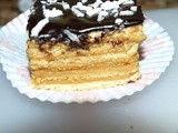 Layered Cake with Caramel and Orange Cream