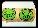 Angry Pigs Swiss Roll