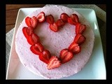 {Be my Valentine} Heart-shaped Strawberry Mousse Cake