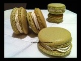 French Pistachio Macarons (With Passion Fruits cream)