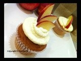 Fresh Nectarine Yogurt Cupcakes