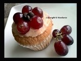 Grapes Cupcakes with Flower Arrangement