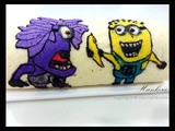 Minion and Evil Minion swiss roll with sun gold Kiwi Filling