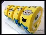 Minions Swiss Roll with Green Kiwi filling