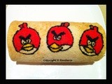 Red Angry Birds Swiss Roll