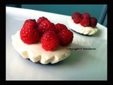 {Valentine's dessert} Bavarois cheese cake with fresh raspberries