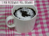 1 Minute Mug Brownie - Eggless Mug Brownie in Microwave