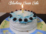 Blueberry Cream Cake | Baked and Iced Series #1 - Microwave Cake