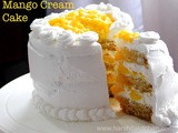 Eggless Mango Cream Cake