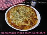 Homemade Pizza Recipe, Veg Pizza from Scratch (Pizza Dough Recipe included)