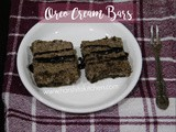 No Bake Oreo Cream Bars // 5 Ingredients Oreo Dessert