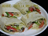 Veggie Tortilla Roll Ups // Vegan Recipe