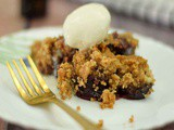 Easy Eggless Plum Crumble Recipe | Eggless Dessert