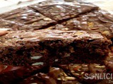 Whole Wheat Brownies [with Nutella and Almond]