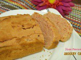 Eggless Rose flavored Jaggery Cake | Using Wheat flour