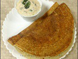 Instant 7 Cup Dosa with Urad Chutney