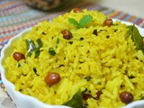 Lemon Mint Rice | Nimbu Pudina Chitranna