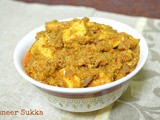 Paneer Sukka - a quick version