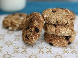 2 Ingredients Oats Cookies - Gluten free, Oil free, Sugar Free