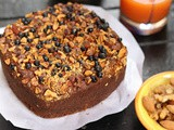 Eggless Whole Wheat Jaggery Fruit Cake | Christmas Cake