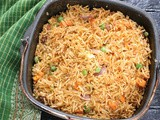 Masala Vegetable Pulao in Airfryer