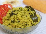 Methi Matar Pulao in Rice Cooker