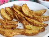 Roasted Garlic Potato Wedges