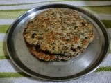 Curry leaves and   Water Chestnuts flour paratha (singhade ka aataa)