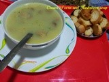 How to make: Cream of corn and Mushroom soup