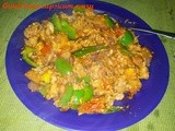 Quick tuna capsicum curry