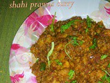 Shahi prawn curry