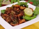 Spicy Ginger prawns dry