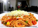 Vegetarian Spaghetti – Spaghetti with Pasta Sauce Recipe