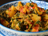 Aloo Methi Tamatar Sabzi, How to make Alu Methi ki Sabzi- Lunch Box Recipe