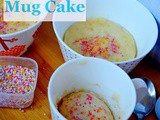 Funfetti Mug Cake, How to make Eggless Funfetti Mug Cake Recipe | Vanilla Funfetti Mug Cake